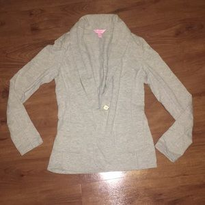 Lilly pulitzer Gray cotton blazer small nwot grey